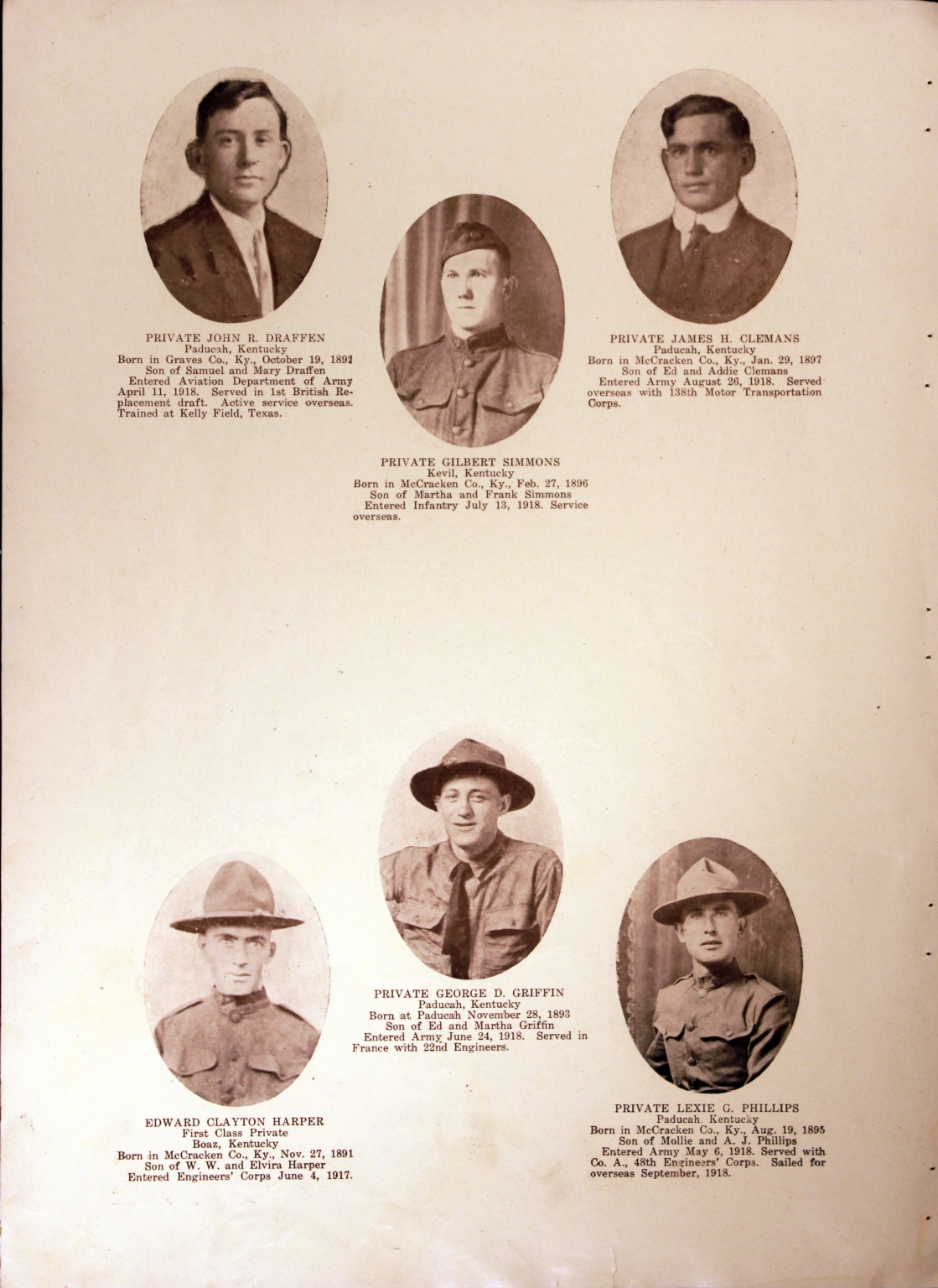 WWI Honor Roll Page 155