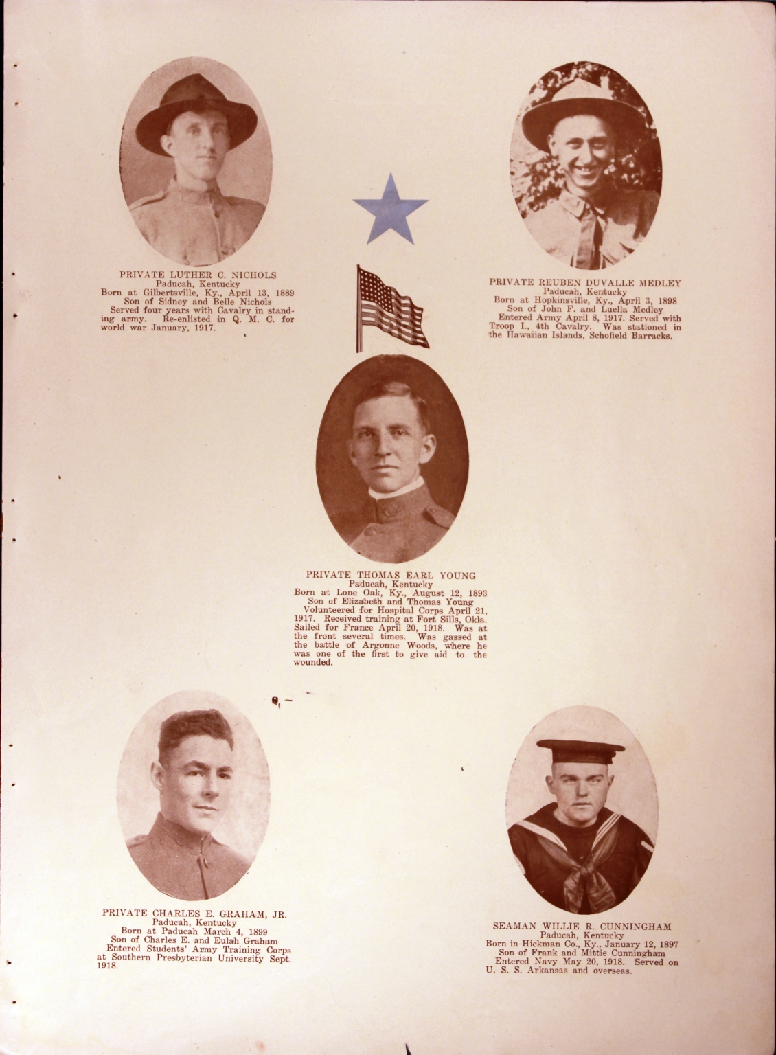 WWI Honor Roll Page 184