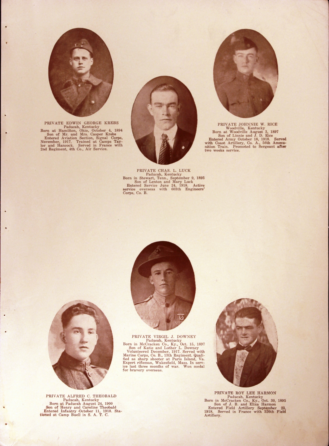 WWI Honor Roll Page 192