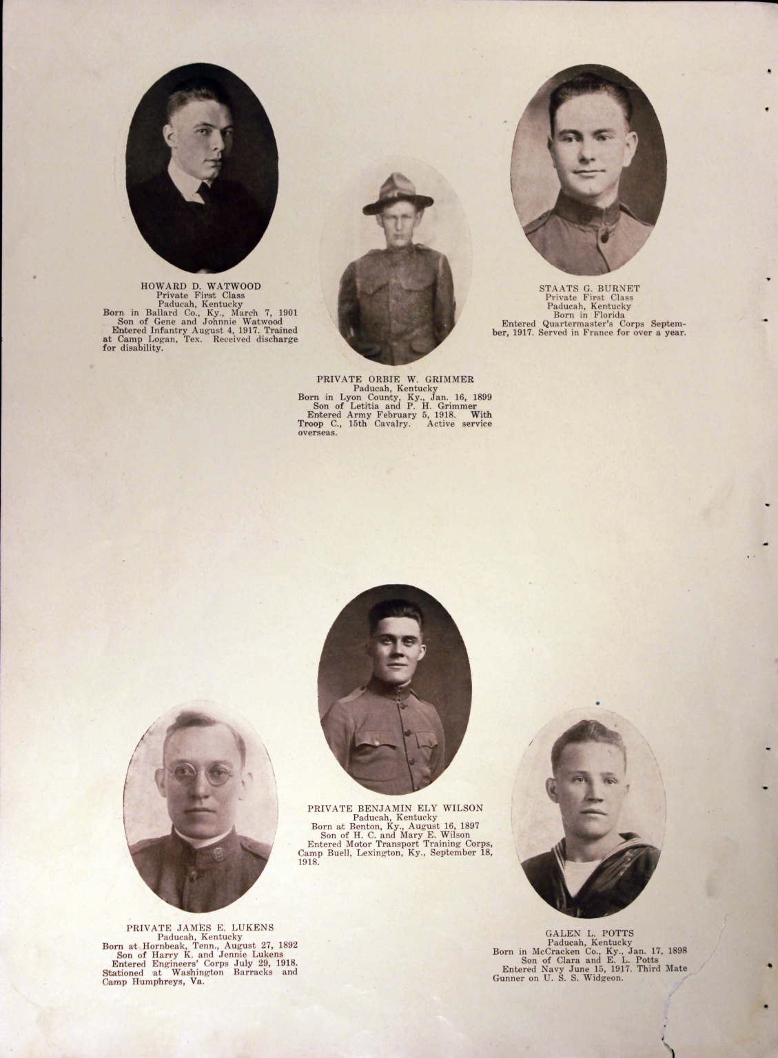 WWI Honor Roll Page 197