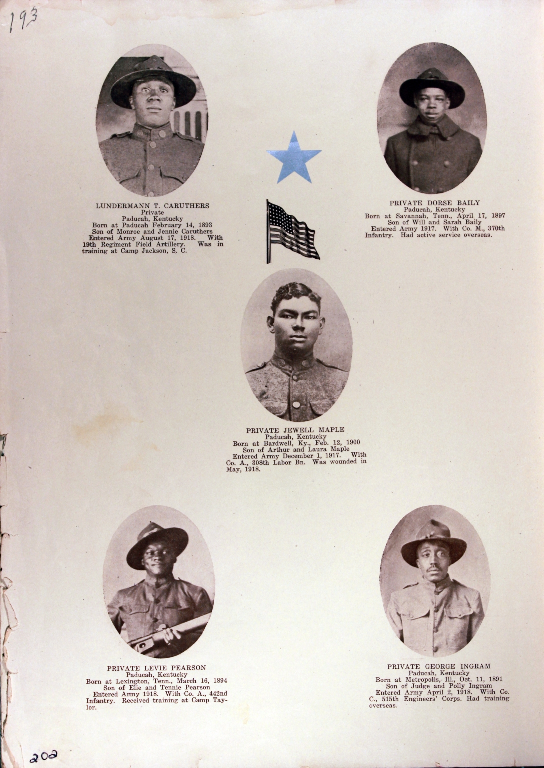 WWI Honor Roll Page 245