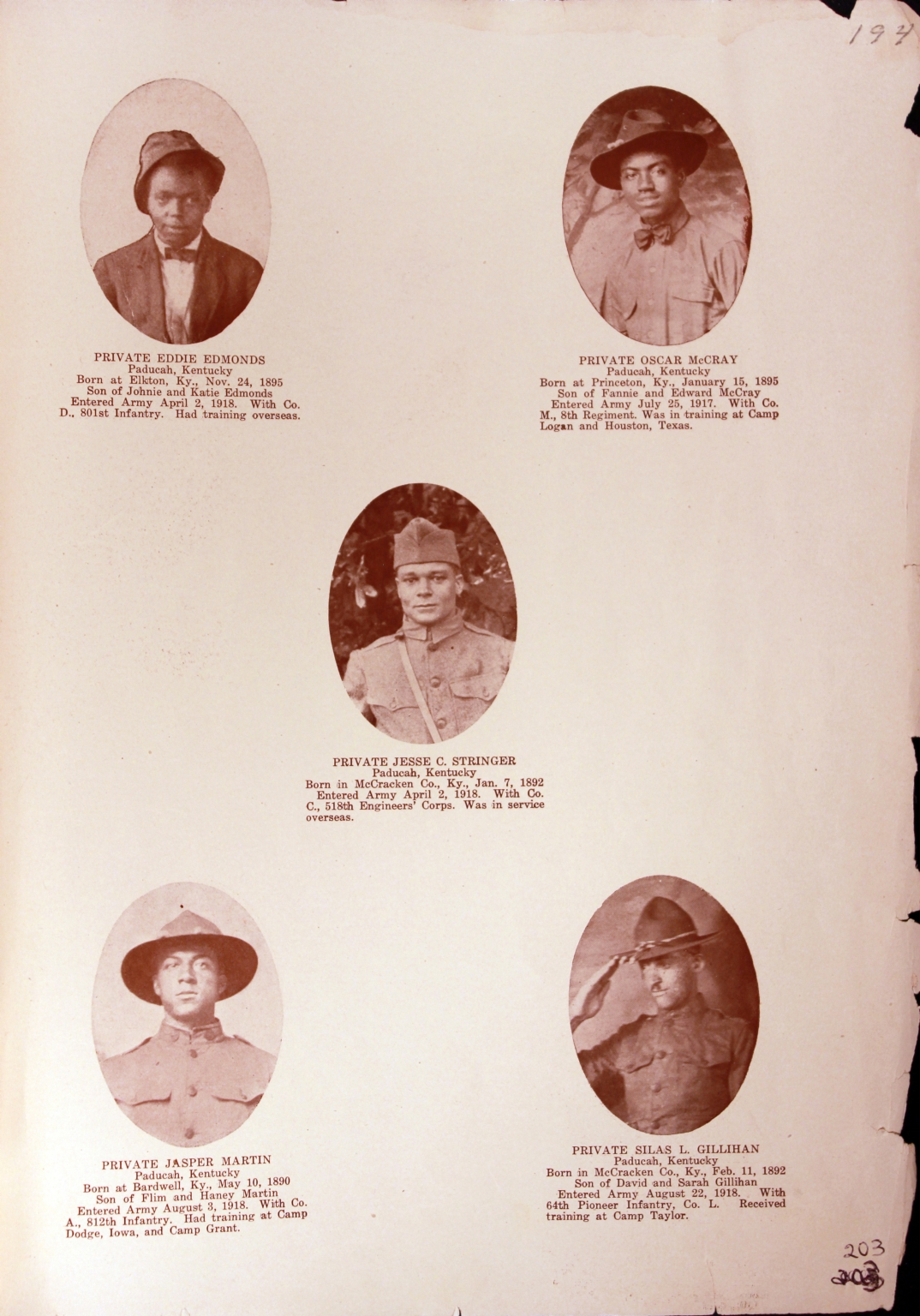 WWI Honor Roll Page 246