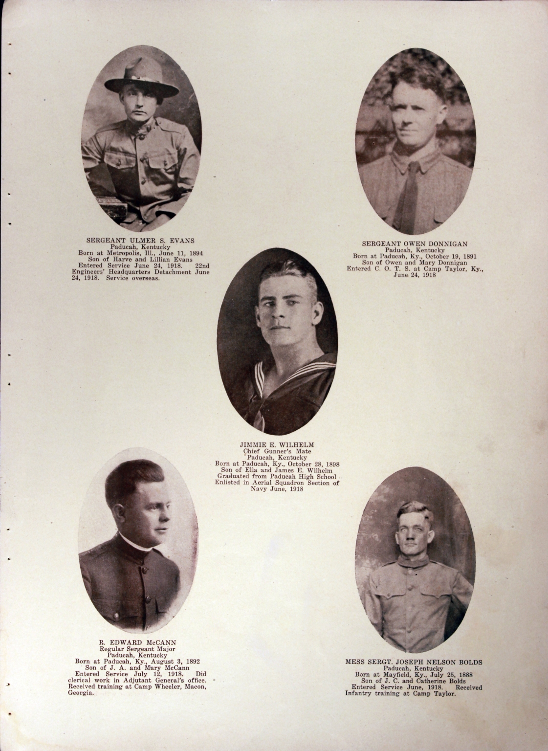WWI Honor Roll Page 082
