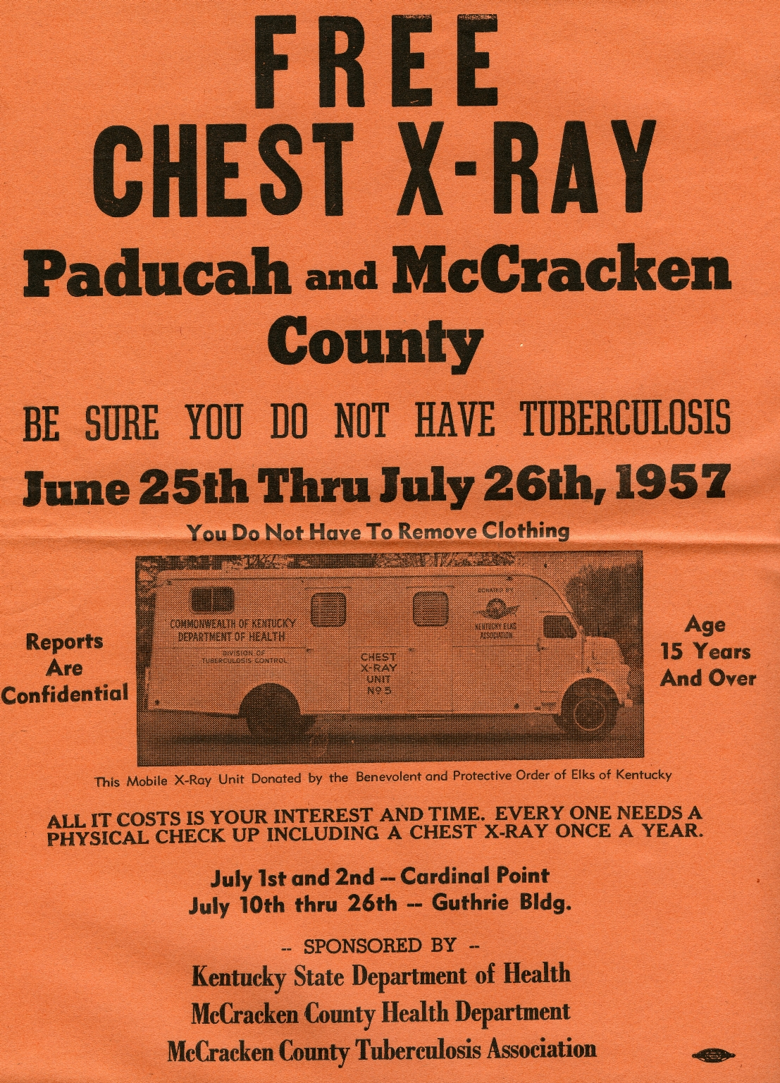Free Chest X-Ray Flyer