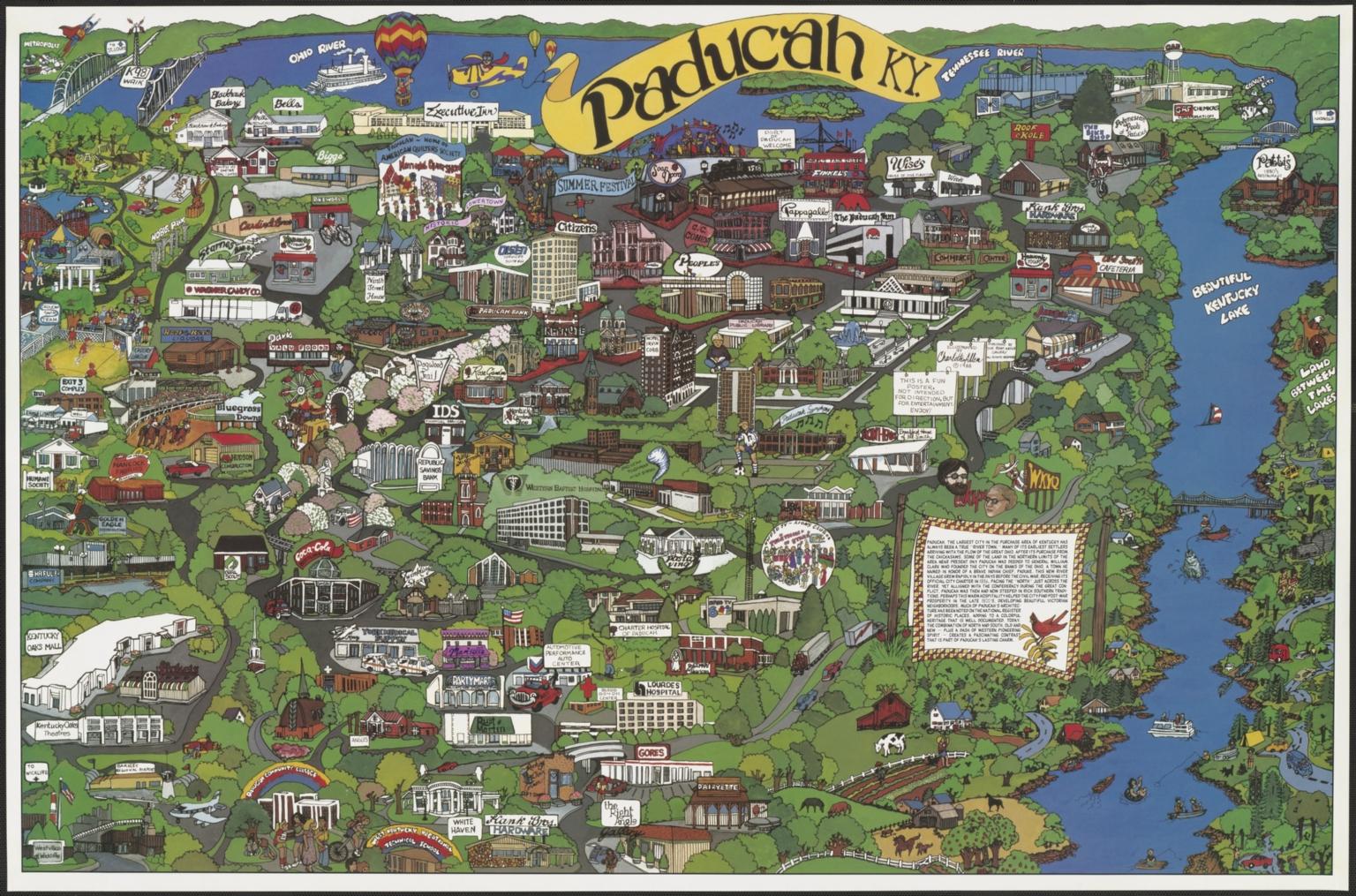 Map of Paducah (KY)