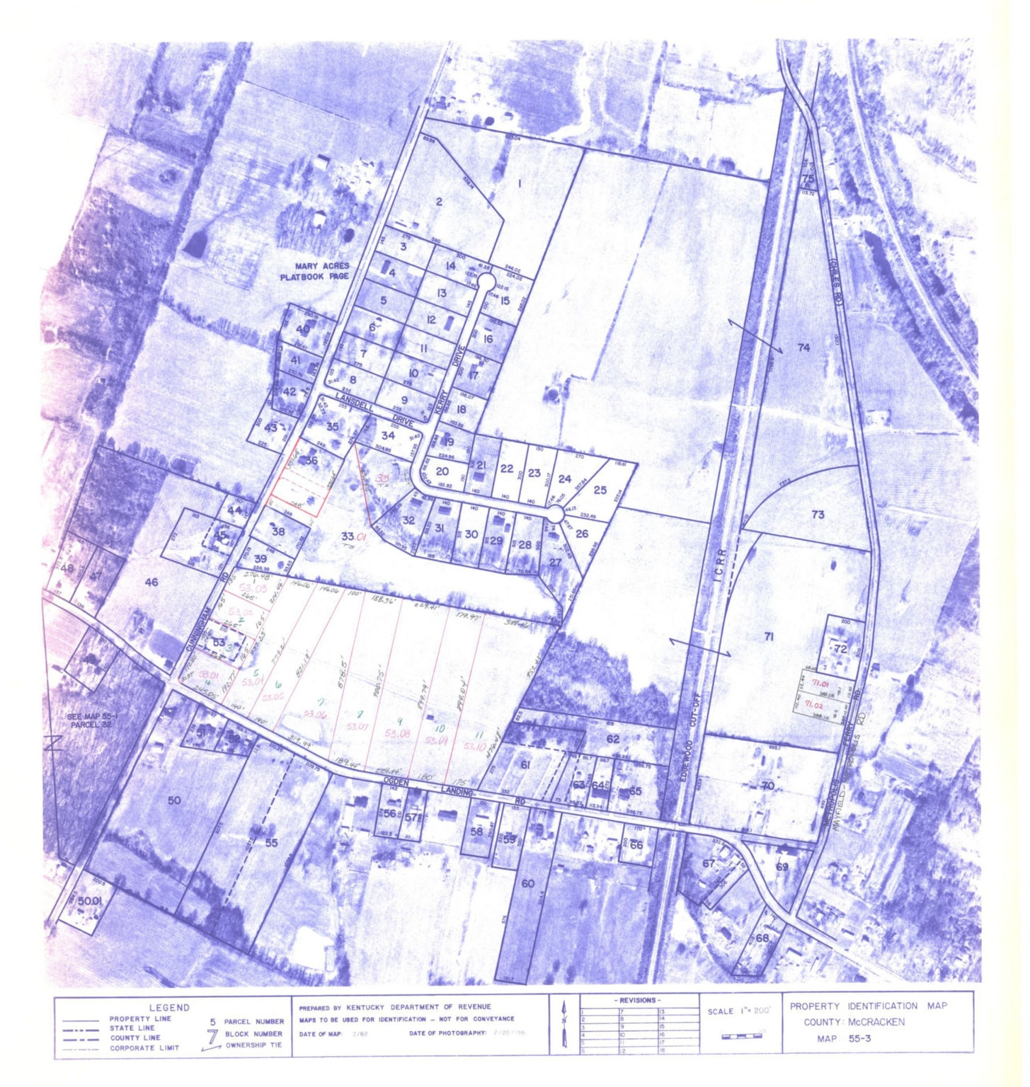 Property Identification Map McCracken County, Map 55-3