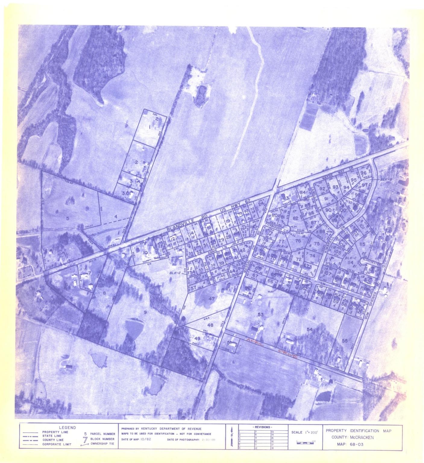 Property Identification Map McCracken County, Map 68-3