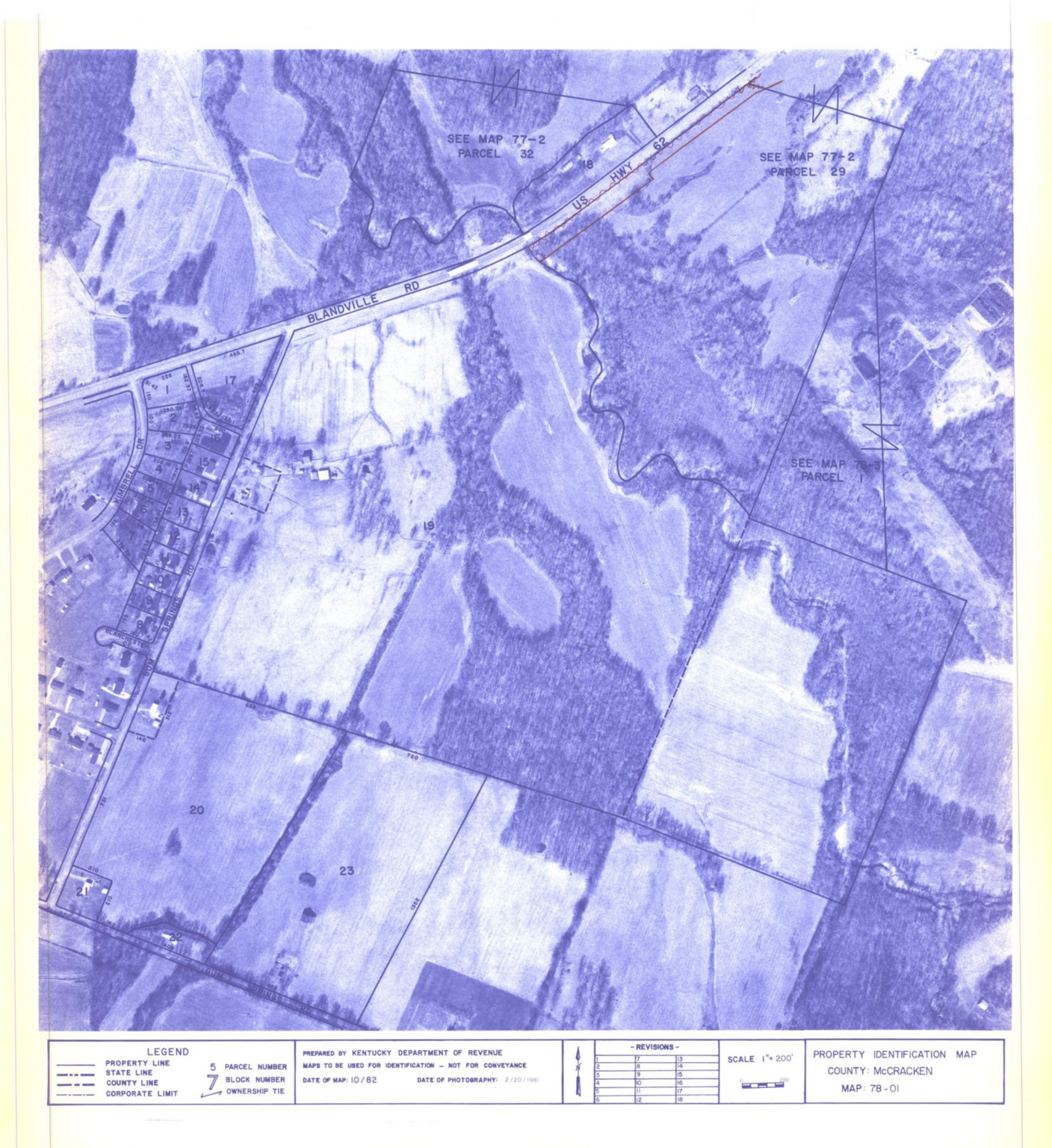 Property Identification Map McCracken County, Map 78-01