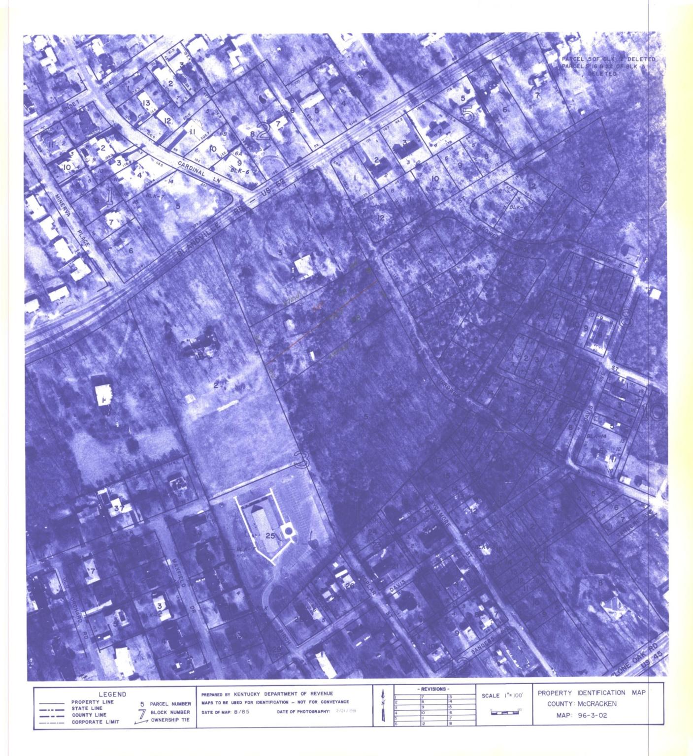 Property Identification Map McCracken County, Map 96-3-02