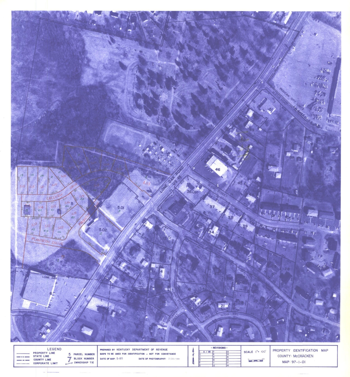 Property Identification Map McCracken County, Map 97-1-01