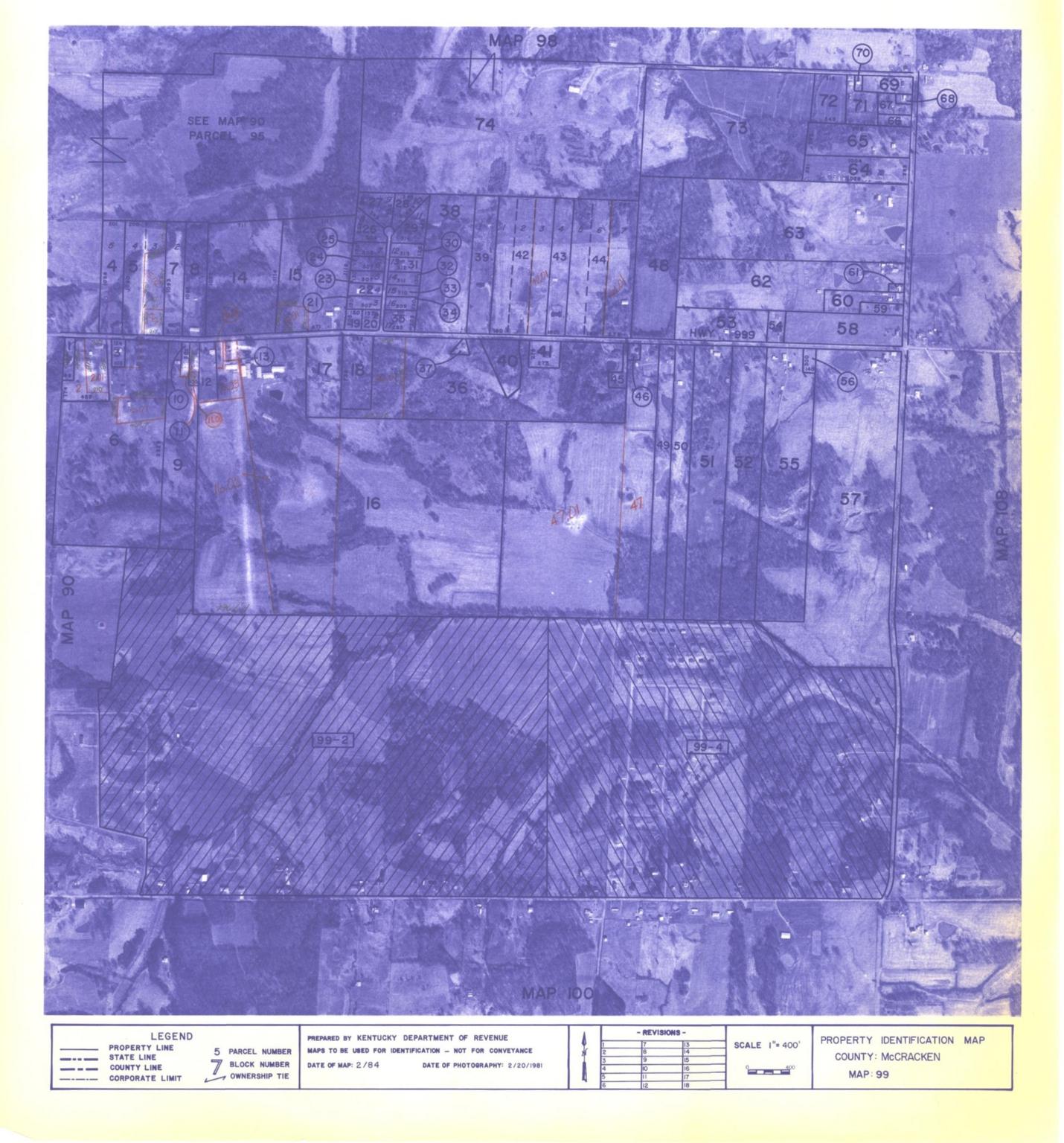 Property Identification Map McCracken County, Map 99