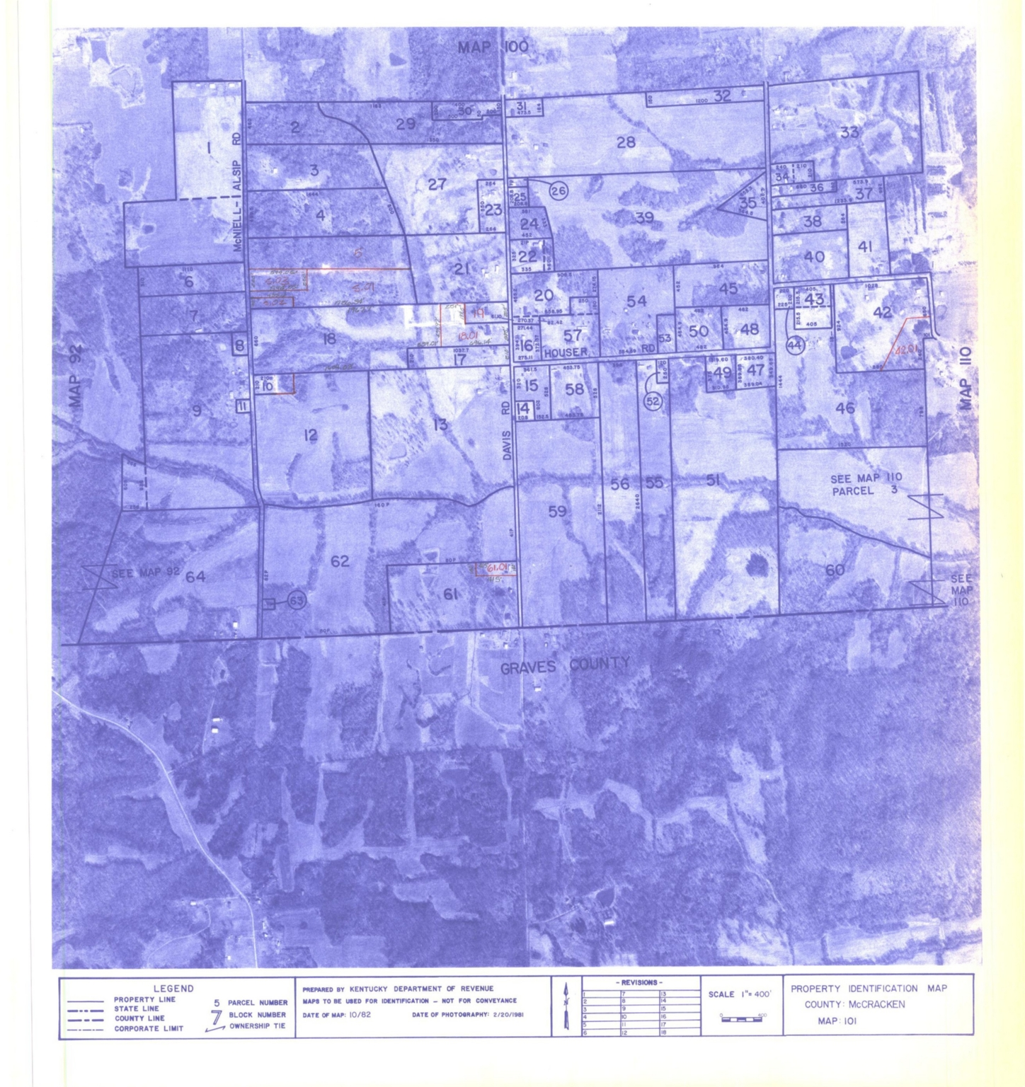 Property Identification Map McCracken County, Map 101