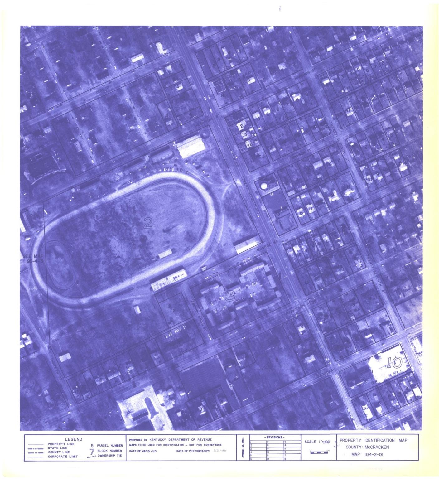 Property Identification Map McCracken County, Map 104-1-2-01