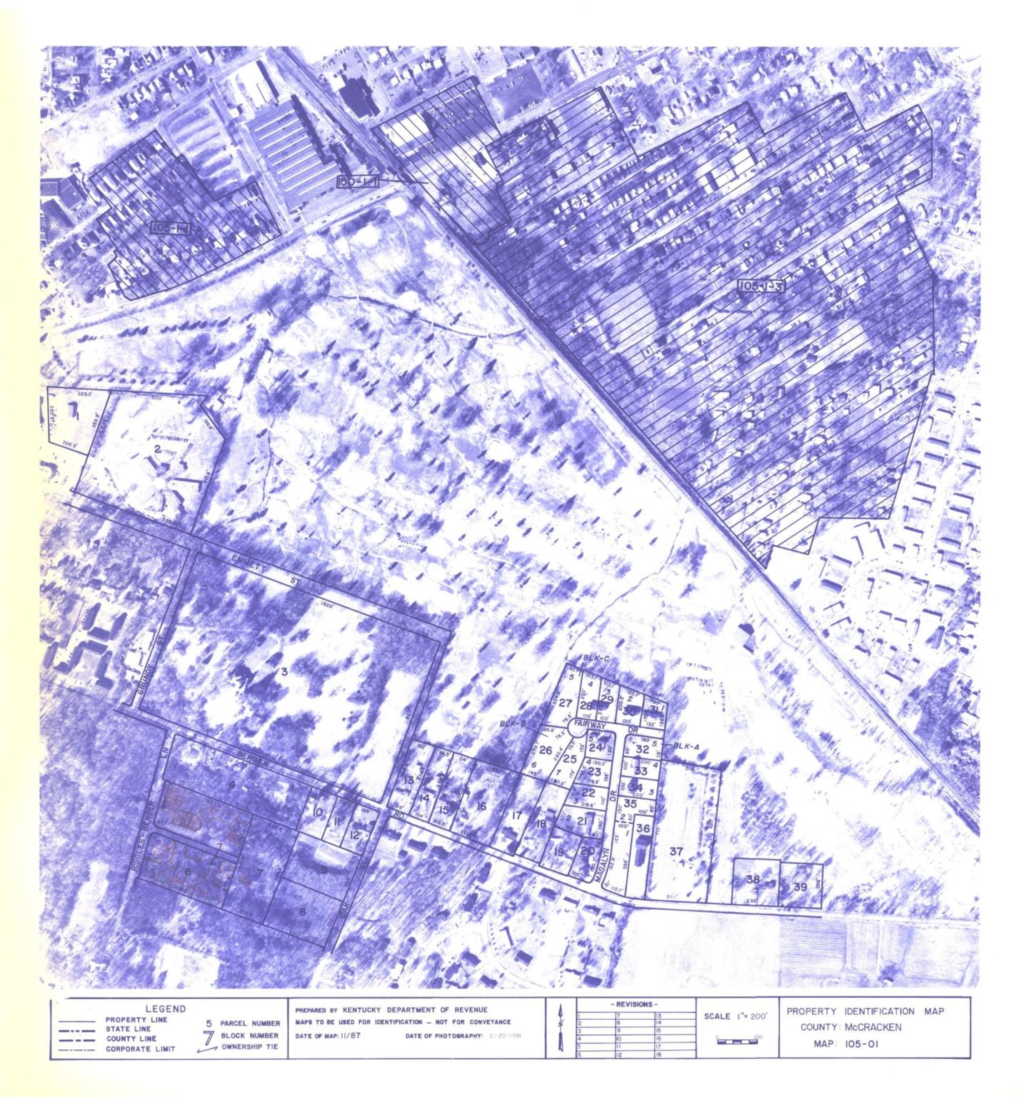 Property Identification Map McCracken County, Map 105-01
