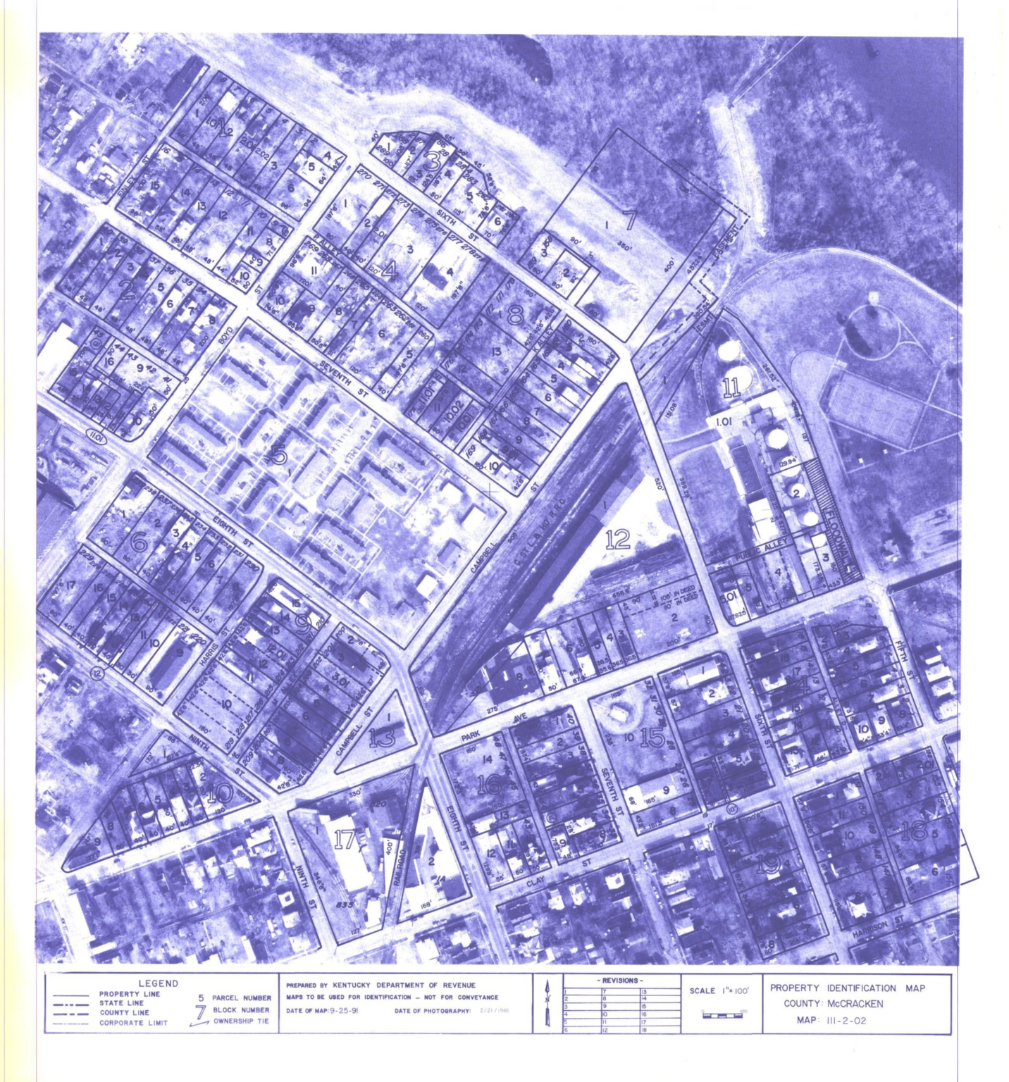 Property Identification Map McCracken County, Map 111-2-02