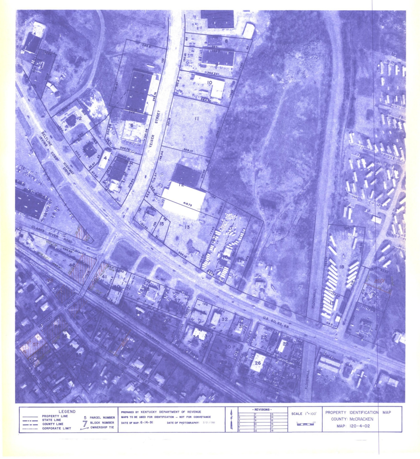 Property Identification Map McCracken County, Map 120-4-02