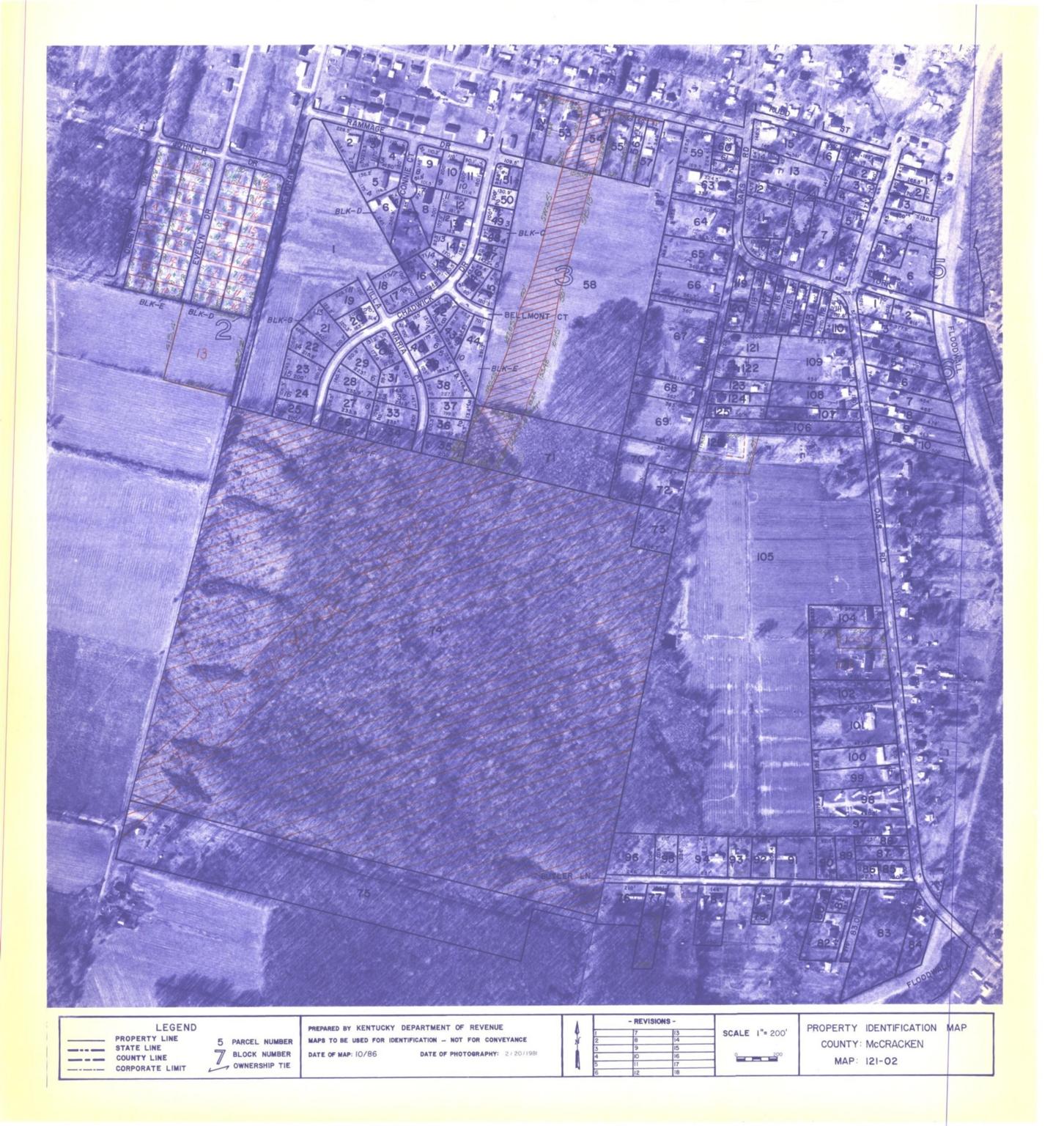 Property Identification Map McCracken County, Map 121-02