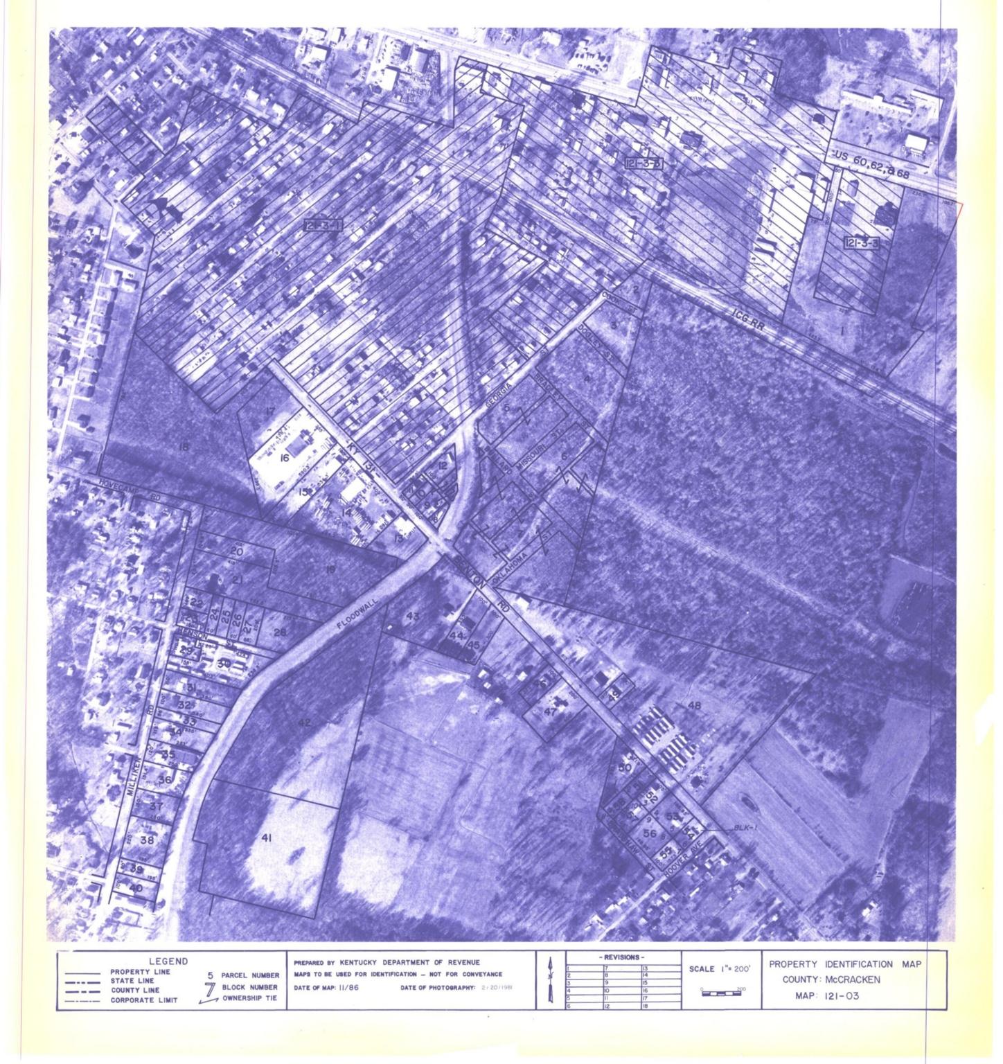 Property Identification Map McCracken County, Map 121-03