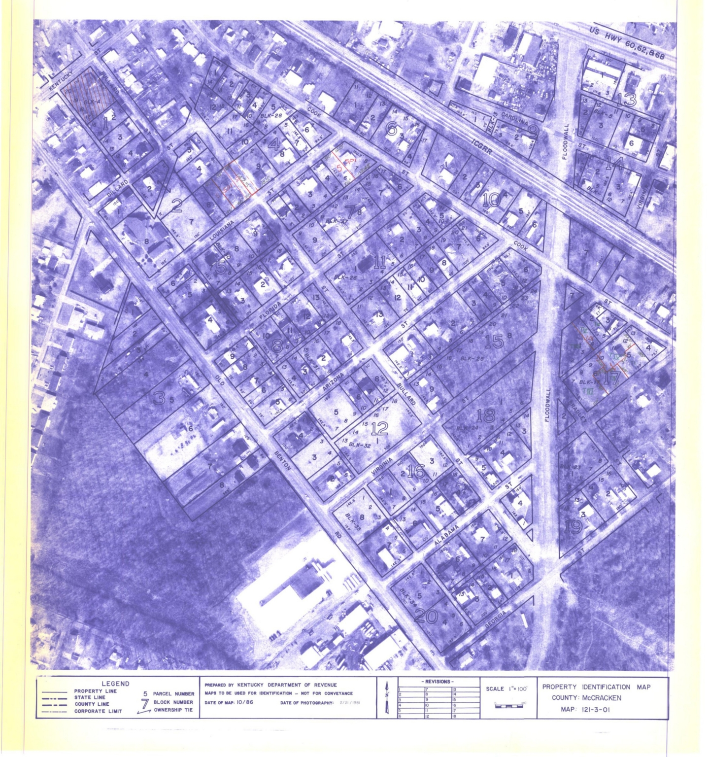 Property Identification Map McCracken County, Map 121-3-01