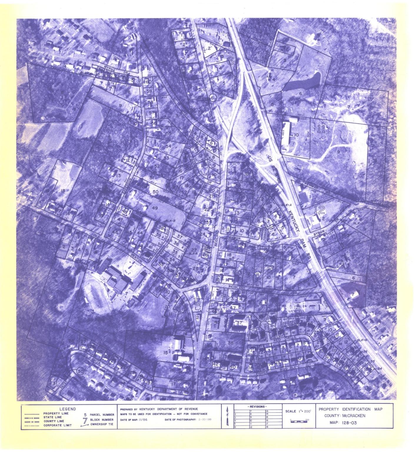 Property Identification Map McCracken County, Map 128-03