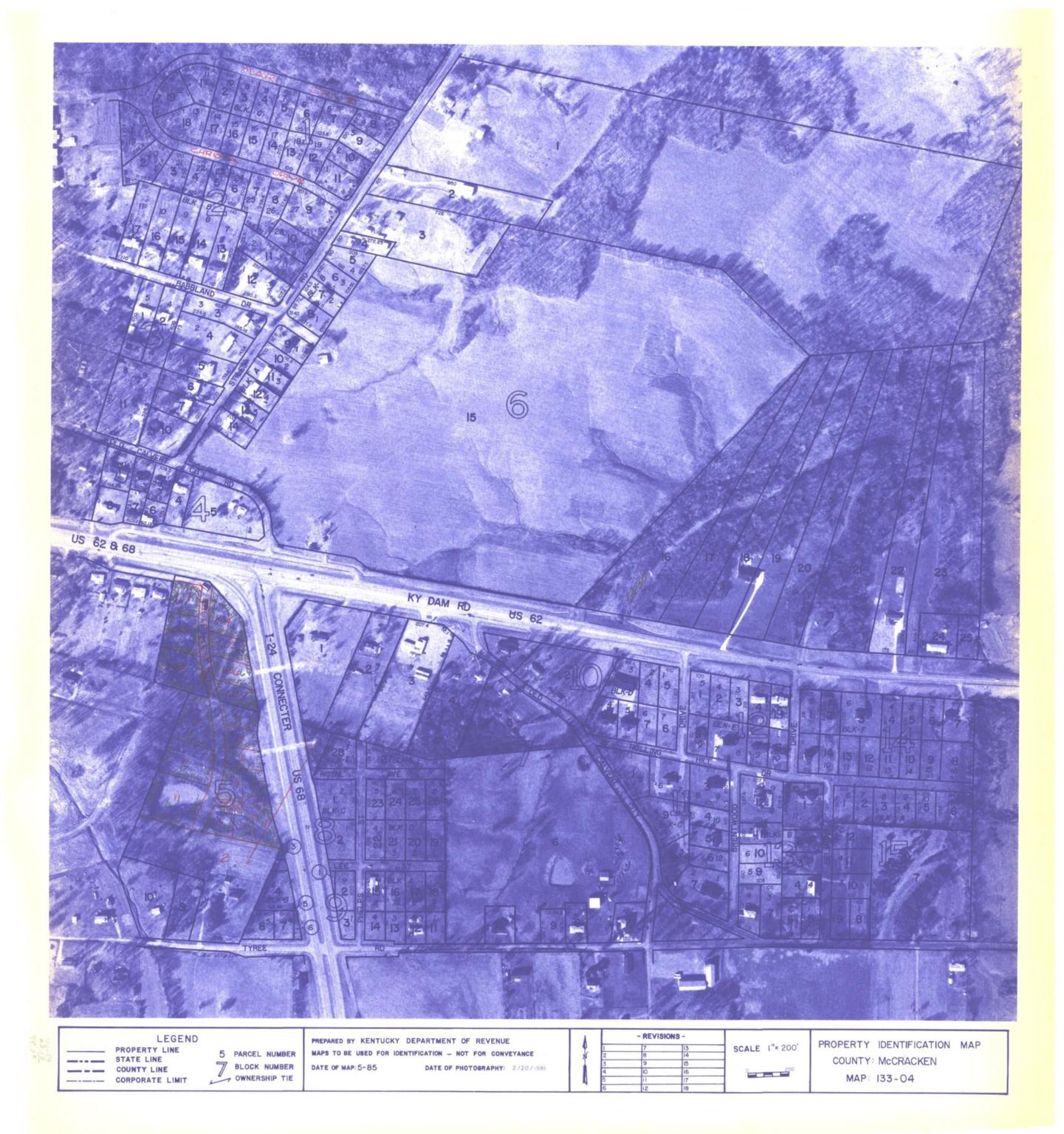 Property Identification Map McCracken County, Map 133-04