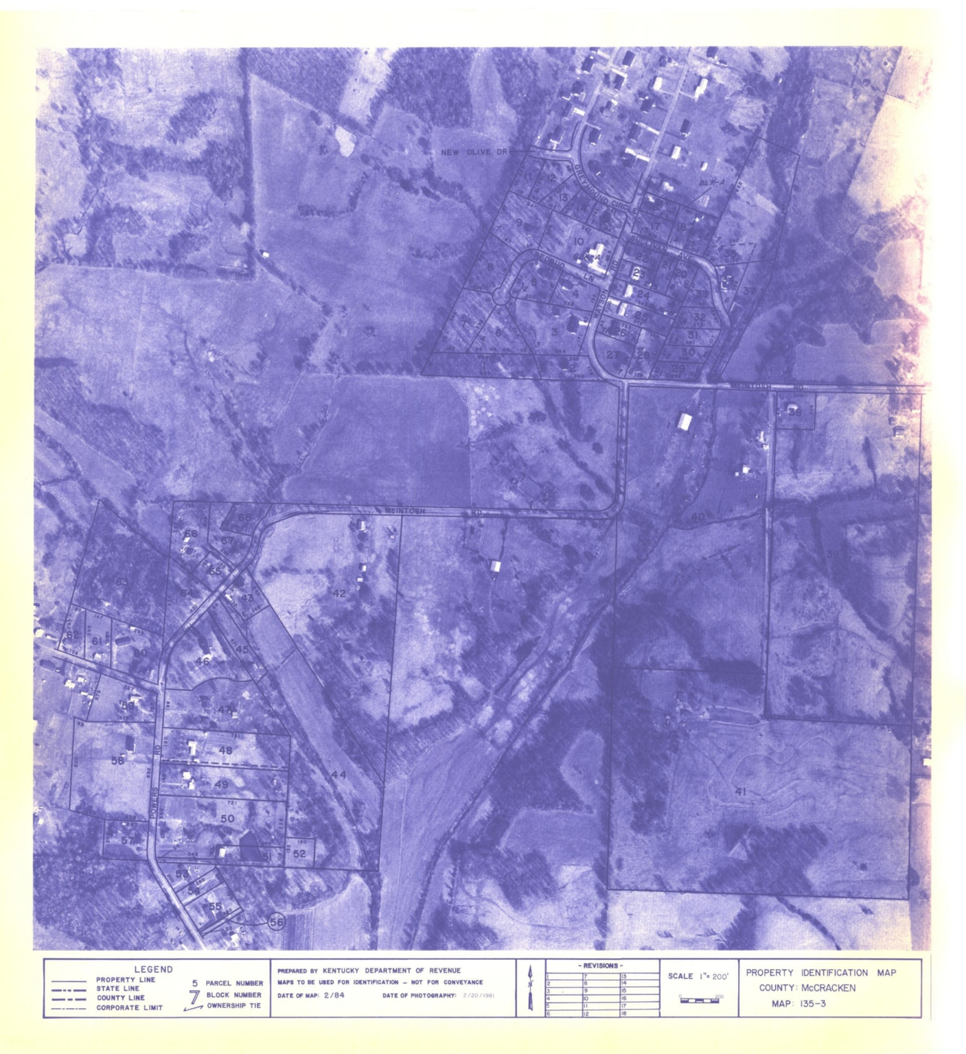 Property Identification Map McCracken County, Map 135-3