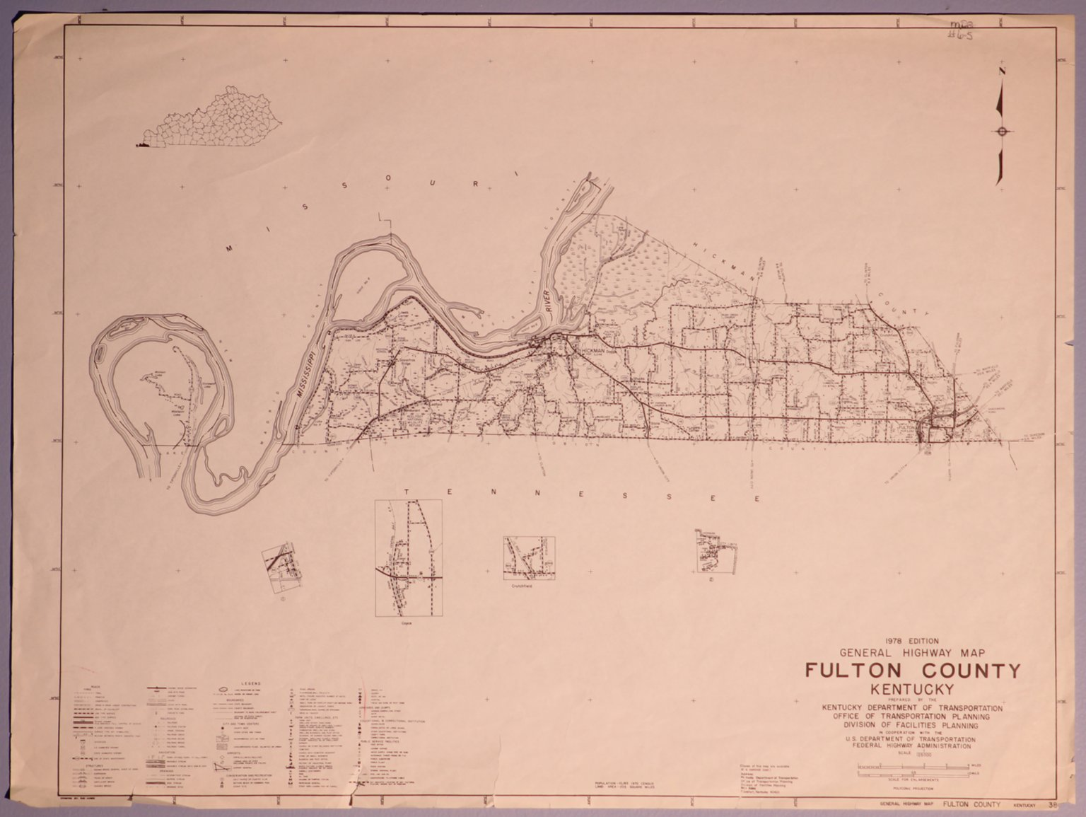 1978 Fulton County Highway Map