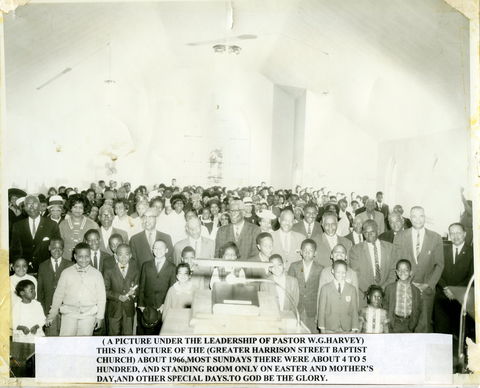 Congregation of Harrison Street Baptist Church