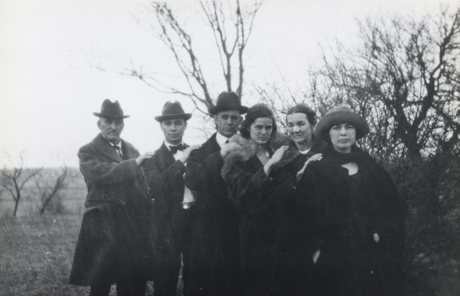 John William Bell, Hap Faber, Charles, Laura E, Laura A Bell and Mary