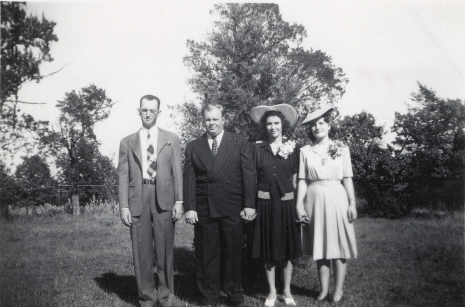 Cooper brothers and spouses, Laura and J W Cooper back left