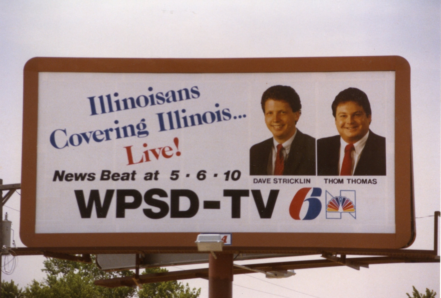 Billboard outside Illinois Bureau