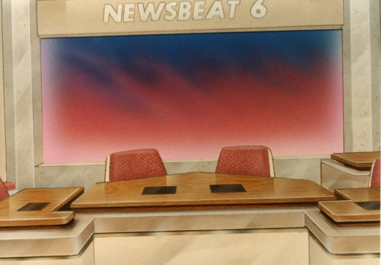 Artist drawing of new news set