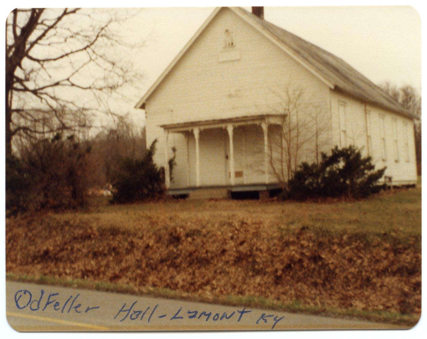 Oddfellow Hall at Lamont, KY