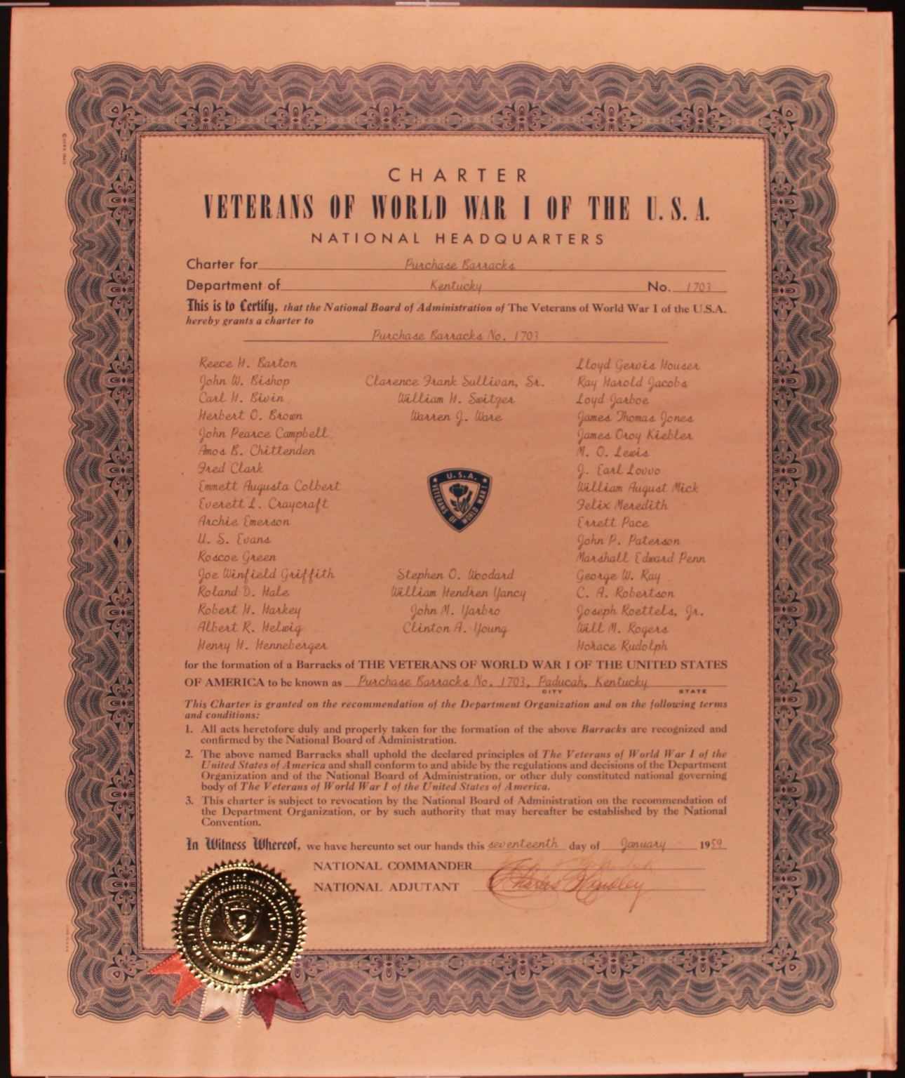 World War I Veterans Charter