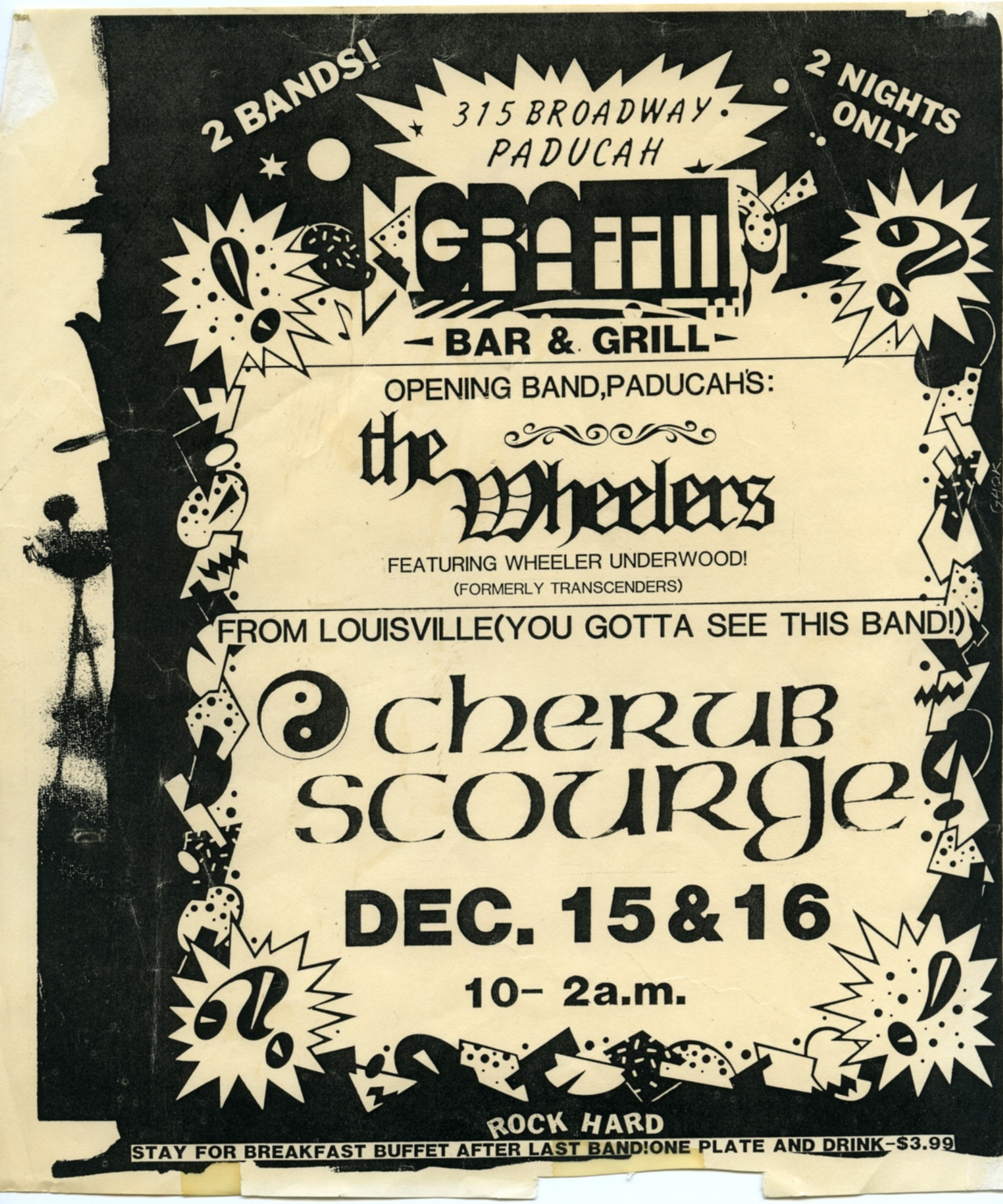 December 15th and 16th Graffiti Bar and Grill Show Flyer