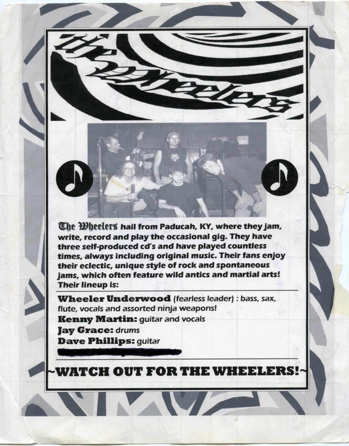 Wheelers Promotional Sheet