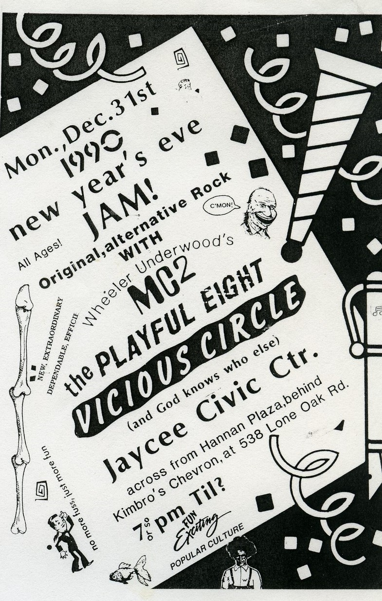 December 31st, 1990 Jaycee Civic Center Show Flyer