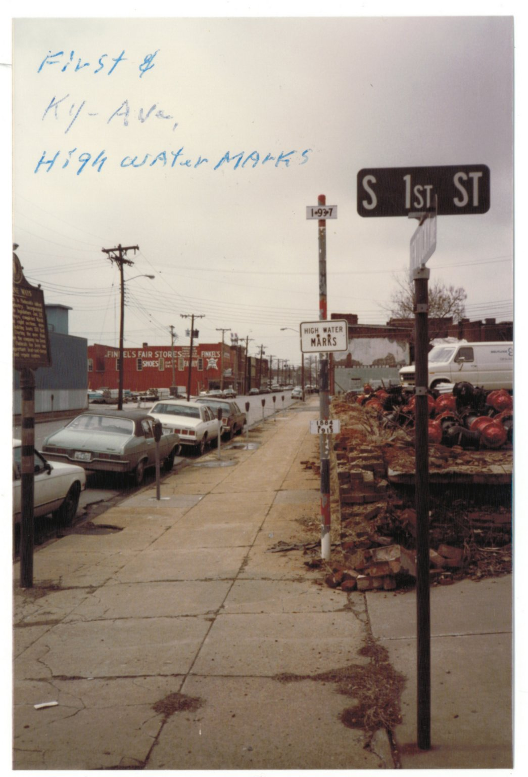 High Water Mark, First and Kentucky Ave.